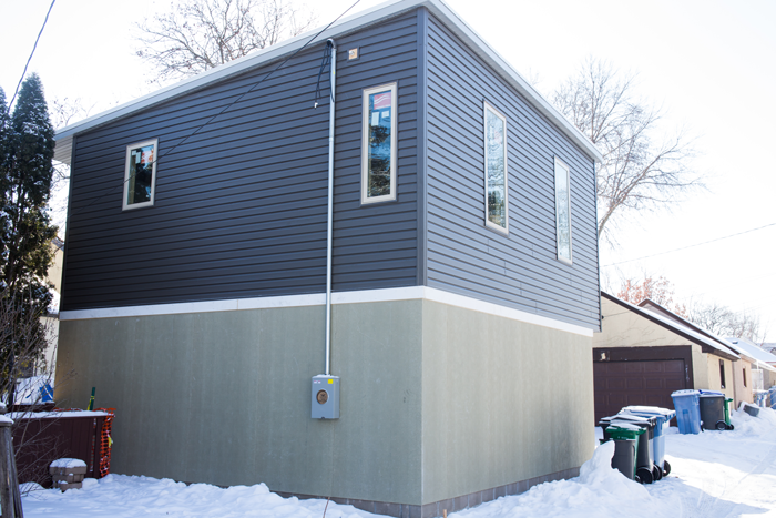 New Minneapolis Granny Flat Is Getting Siding Exterior