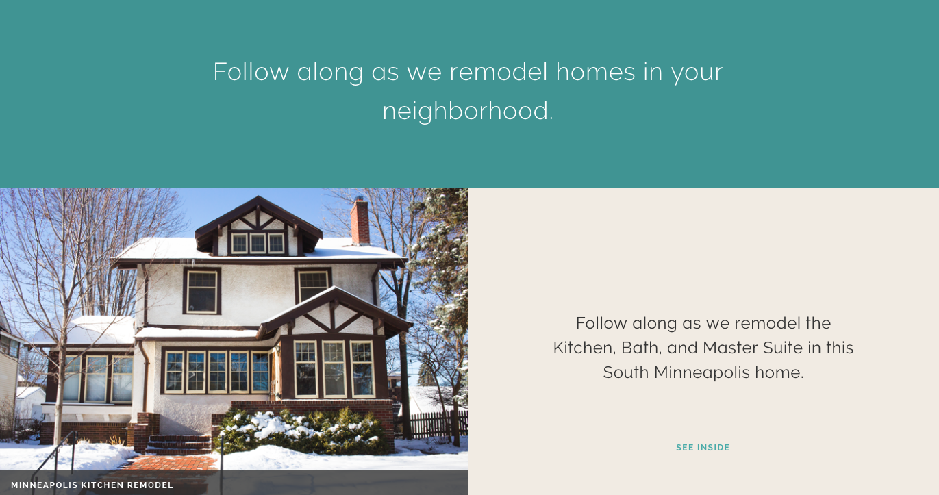 Inside This Remodel - See Inside Twin Cities Remodeling Projects