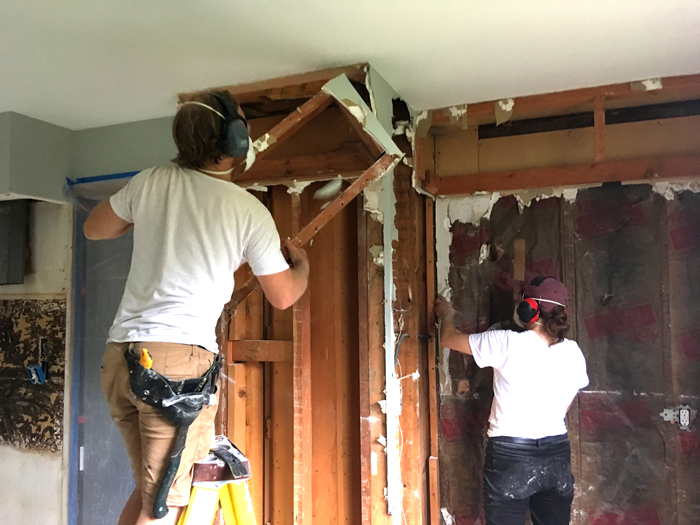 Demoing All The Existing Plaster Drywall And Lathe