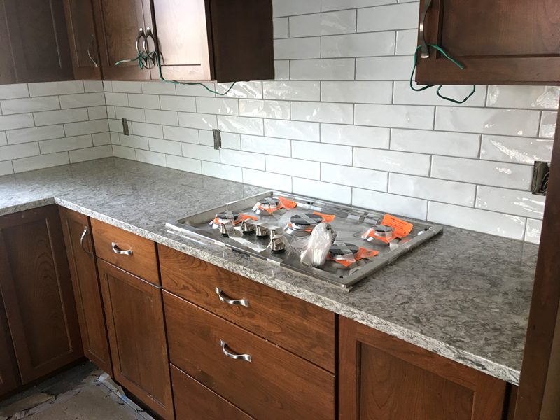 The Gas Cooktop Is Installed With Countertops